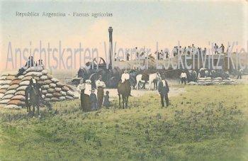 Ansichtskarte tarjeta postal Argentinien Argentina Faenas agricolas Landwirtschaft