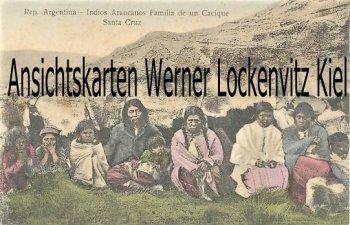 Ansichtskarte tarjeta postal Argentinien Argentina Indios Araucanos Familia de un Cacique Santa Cruz