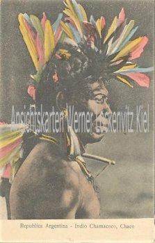 Ansichtskarte tarjeta postal Argentinien Argentina Indio Chamacoco Chaco