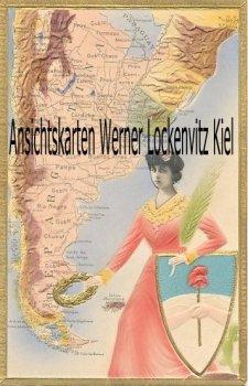 Ansichtskarte tarjeta postal Argentinien Argentina Landkarte Prägedruck