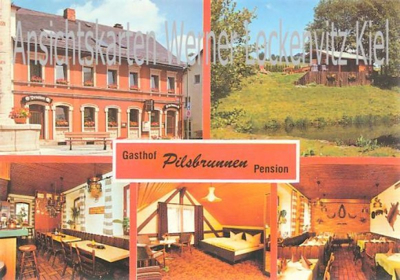 Ansichtskarte Bischofsgrün Gasthof-Pension Pilsbrunnen Bes. Erich Benker