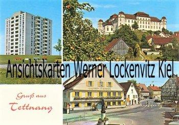 Ansichtskarte Tettnang Gasthof zum Bären Hochhaus Schloß