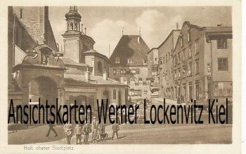 Ansichtskarte Österreich Hall in Tirol oberer Stadtplatz