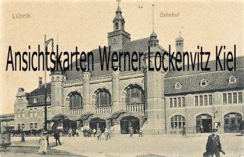 Ansichtskarte Bahnhof in Lübeck