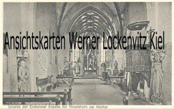 Ansichtskarte Inneres der Ersheimer Kapelle bei Hirschhorn am Neckar