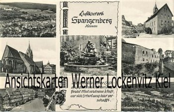 Ansichtskarte Spangenberg Marktplatz Liebenbach-Tal