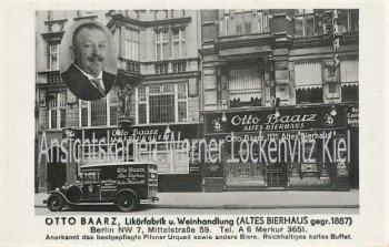 Ansichtskarte Berlin-Spandau Likörfabrik und Weinhandlung von Otto Braatz