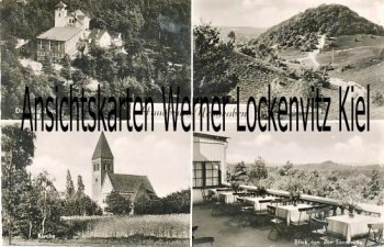 Ansichtskarte Hamburg-Hausbruch-Neugraben Die Heideburg Kirche Falkenberg