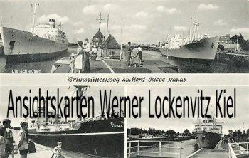 Ansichtskarte Brunsbüttel Die Schleusen