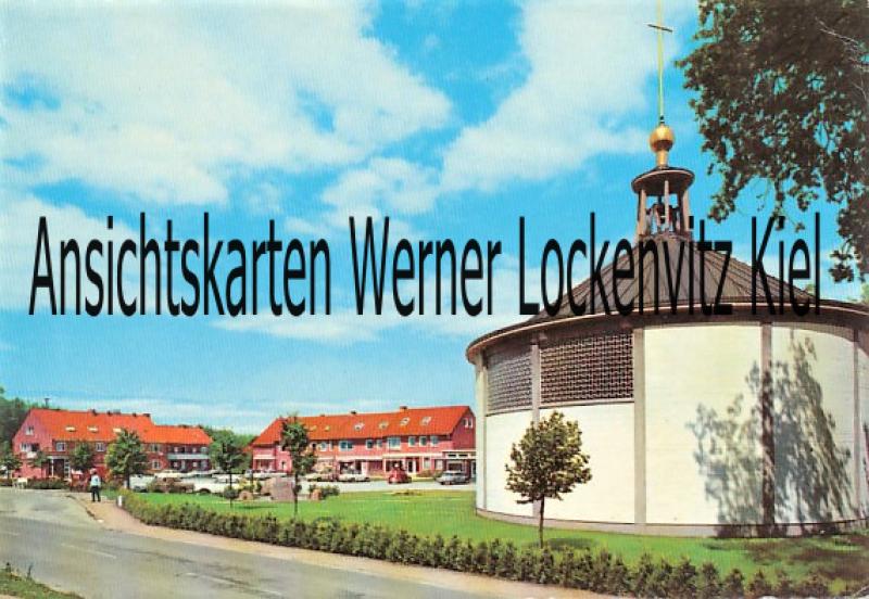 Ansichtskarte Hohwacht Berliner Platz mit Kirche