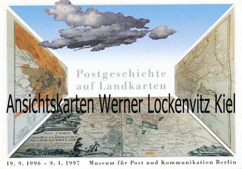 Ansichtskarte Berlin Postgeschichte auf Landkarten Museum für Post und Kommunikation