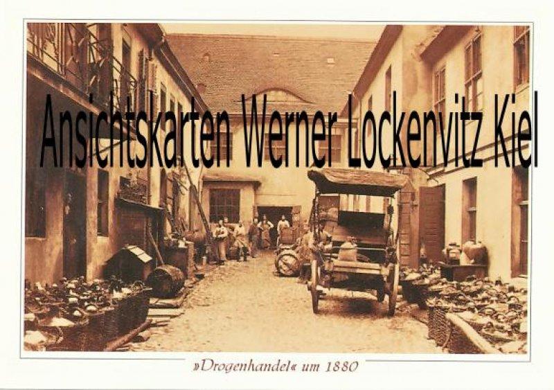 Ansichtskarte Berlin Drogenhandel um 1880 Produktion und Verkauf von Weinen, Essig und Essenzen