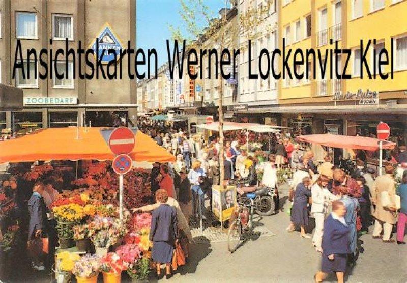 Ansichtskarte Mönchengladbach-Rheydt Blumenmarkt auf der Hauptstraße