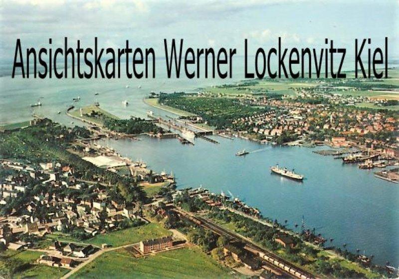 Ansichtskarte Brunsbüttel Blick auf den Nord-Ostsee-Kanal und die Elbe Luftbild