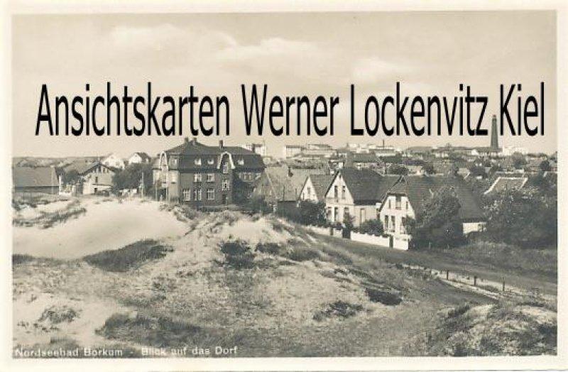 Ansichtskarte Borkum Blick auf das Dorf