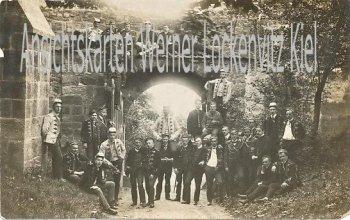 Ansichtskarte Arnstadt Studentengruppe Fotokarte
