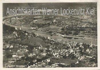 Ansichtskarte Hirschhorn am Neckar Ortsansicht Luftbild