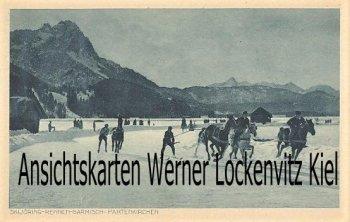 Ansichtskarte Garmisch-Partenkirchen Skijöring-Rennen