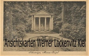 Ansichtskarte Schwetzingen Minerva-Tempel