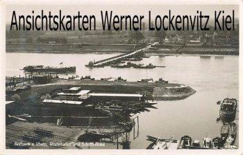 Ansichtskarte Breisach am Rhein Rheinhafen und Schiffbrücke