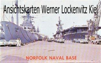 Ansichtskarte USA Naval Base Norfolk VA. Flugzeugträger