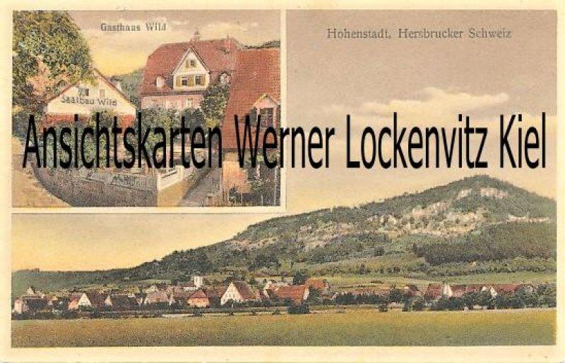 Ansichtskarte Hohenstadt Ortsansicht und Gasthaus Wild