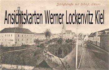 Ansichtskarte Lützen Schloßstraße mit Schloß