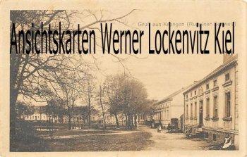 Ansichtskarte Neuruppin-Krangen Häuser am Dorfteich