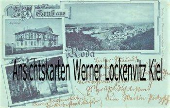Ansichtskarte Roda Logierhaus Ortsansicht
