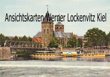 Ansichtskarte Hameln Weser mit Blick auf Münster und Dampfer