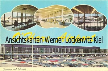 Ansichtskarte USA Chicago O´Hare Airport Flughafen Terminal and Interiors
