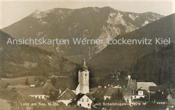 Ansichtskarte Österreich Lunz am See Ortsansicht mit Scheiblingstein Niederösterreich
