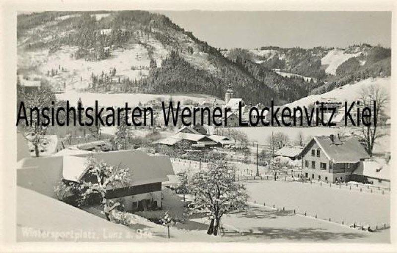 Ansichtskarte Österreich Wintersportplatz Lunz am See Ortsansicht Niederösterreich