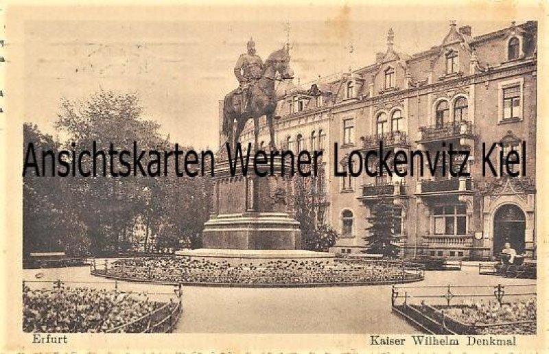 Ansichtskarte Erfurt Kaiser Wilhelm Denkmal