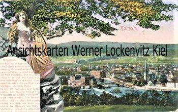 Ansichtskarte Hameln Ortsansicht Weserlied