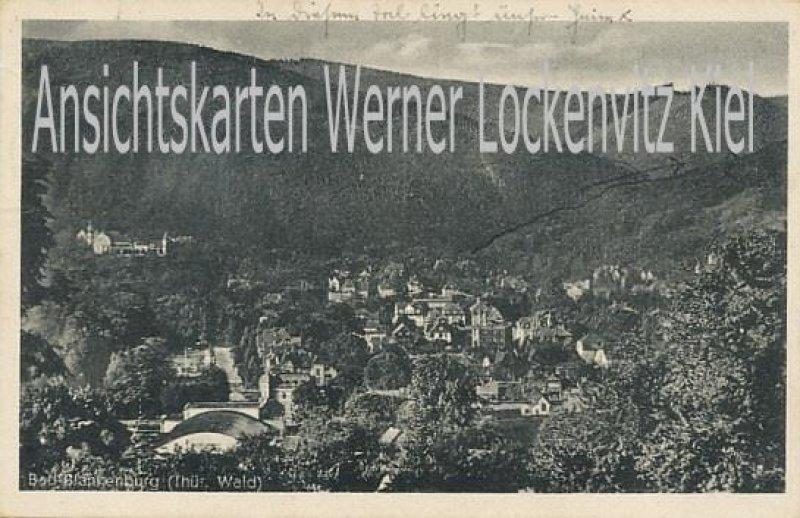Ansichtskarte Bad Blankenburg Ortsansicht mit KLV-Lagerstempel Hotel Waldmannsheil