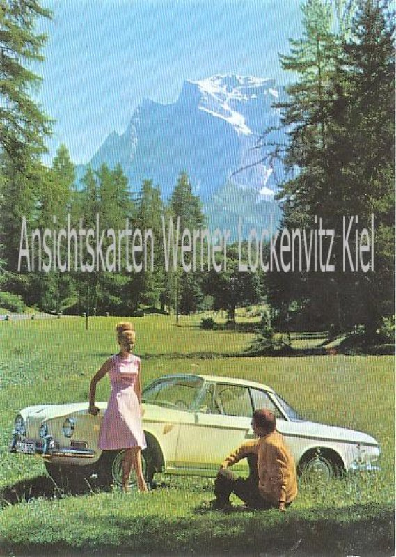 Ansichtskarte Volkswagen Karmann Ghia Typ 34