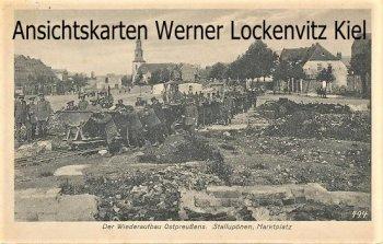 Ansichtskarte Stallupönen Ebenrode Nesterow Нестеров Marktplatz Wiederaufbau