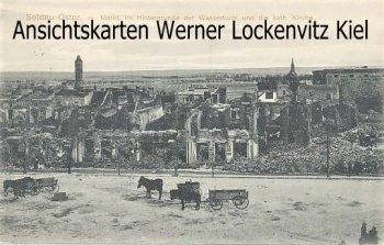 Ansichtskarte Soldau Działdowo Markt mit Wasserturm und kath. Kirche
