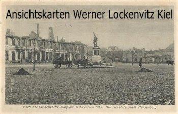 Ansichtskarte Neidenburg Nidzica Die zerstörte Stadt