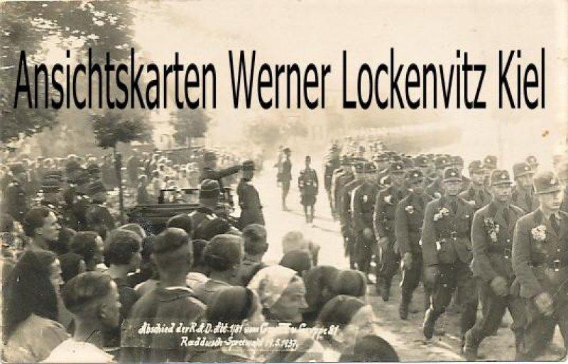 Ansichtskarte Vetschau-Raddusch Abschied der RAD-Abt. Spreewald Fotokarte
