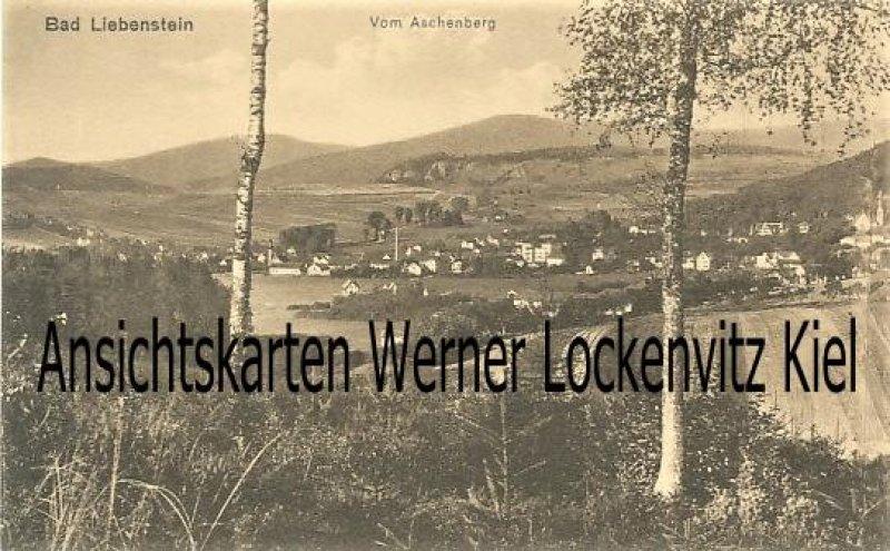 Ansichtskarte Bad Liebenstein Blick auf die Stadt vom Aschenberg aus gesehen