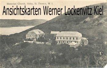 Postcard Virgin Islands St. Thomas Moravian Church Nisky W. I, Herrnhuter