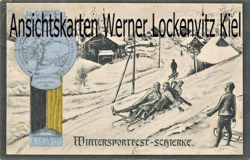 Ansichtskarte Wernigerode-Schierke Wintersportfest