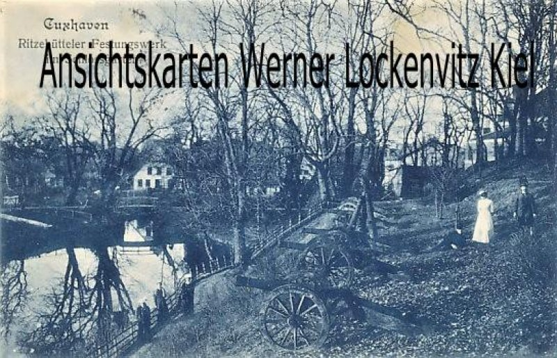 Ansichtskarte Cuxhaven Ritzebütteler Festungswerk im Schlossgarten