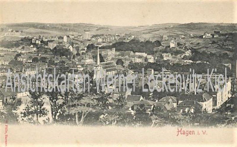 Ansichtskarte Hagen i. W. Ortsansicht