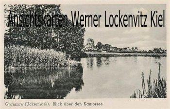Ansichtskarte Gramzow Uckermark Blick über den Kantorsee