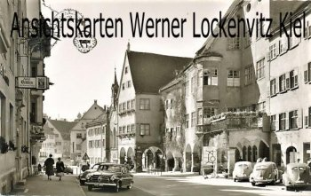 Ansichtskarte Isny im Allgäu Beim Rathaus