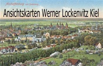 Ansichtskarte Aschaffenburg Ortsansicht vom Godelsberg gesehen