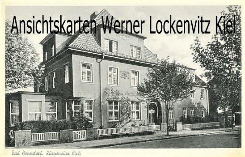 Ansichtskarte Bad Nenndorf Kurpension Bock